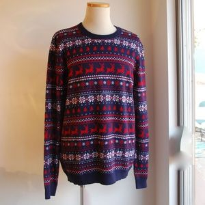 NEW TOPMAN Christmas Holiday Sweater Cotton XL